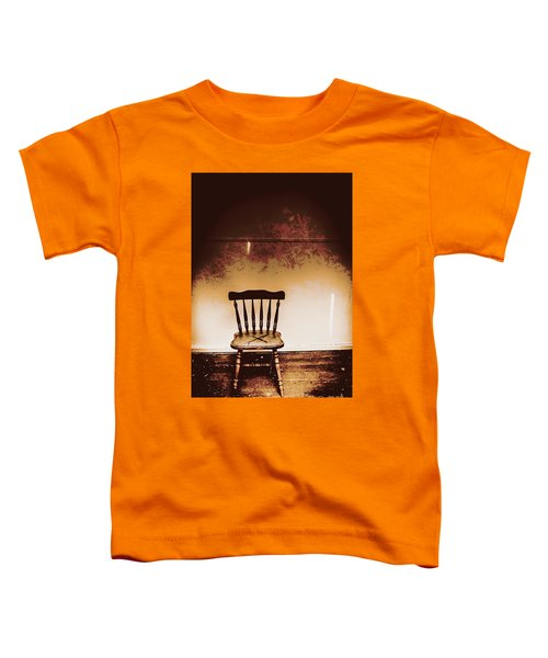 Empty Wooden Chair With Cross Sign Toddler T-Shirt