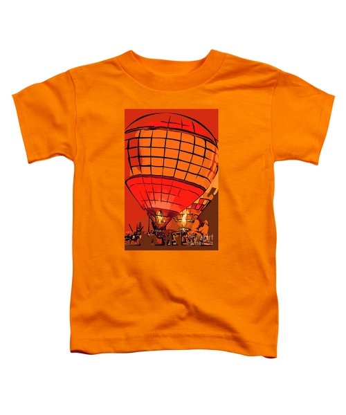 Evening Glow Red And Yellow In Abstract Toddler T-Shirt