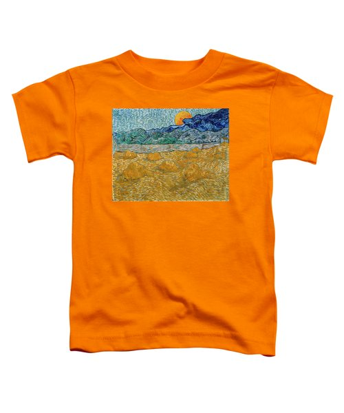 Toddler T-Shirt featuring the painting Evening Landscape With Rising Moon by Van Gogh