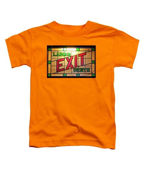 Exit - Ladies/gents Art Deco Sign Toddler T-Shirt