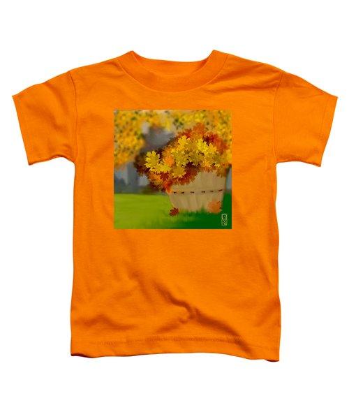 Toddler T-Shirt featuring the digital art Fall by Gerry Morgan