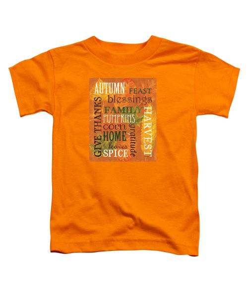 Fall Typography 1 Toddler T-Shirt