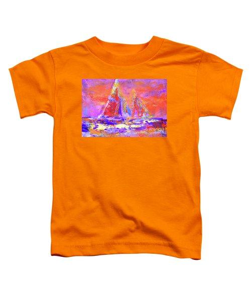 Festive Sailboats 11-28-16 Toddler T-Shirt