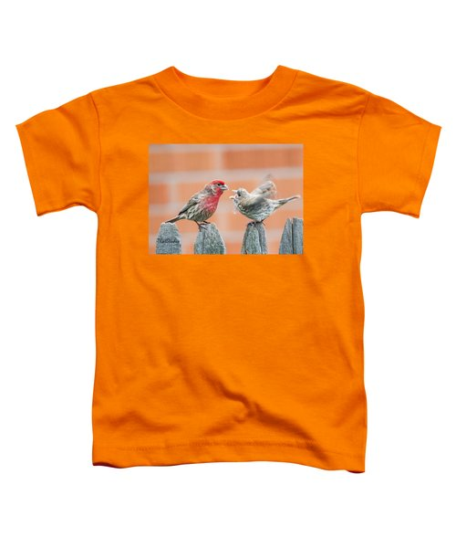 Feuding Finches Toddler T-Shirt