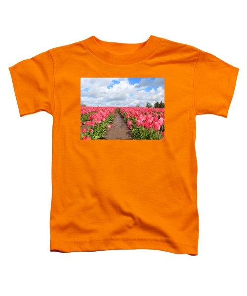 Field Of Pink Toddler T-Shirt