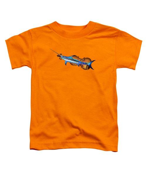 Fisholin V1 - Instrumental Fish Toddler T-Shirt by Cersatti