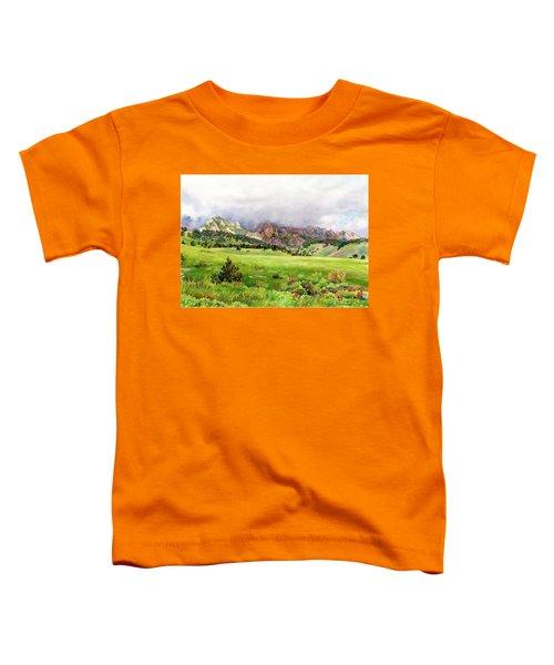 Flatirons Vista Toddler T-Shirt