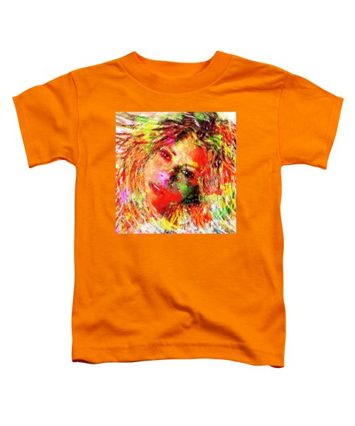 Flowery Shakira Toddler T-Shirt by Navo Art