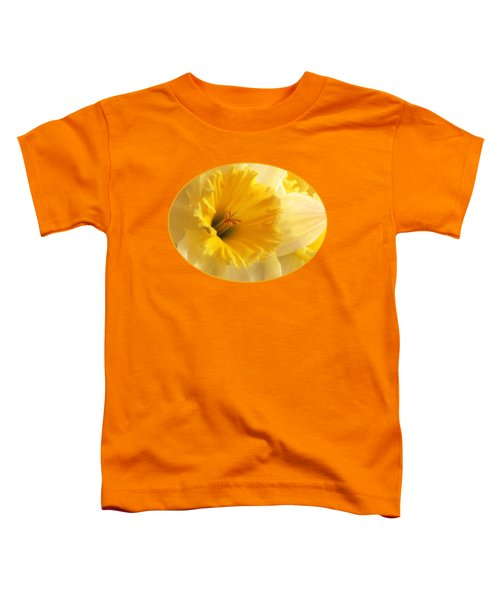 Focus On Spring - Daffodil Close Up Toddler T-Shirt by Gill Billington
