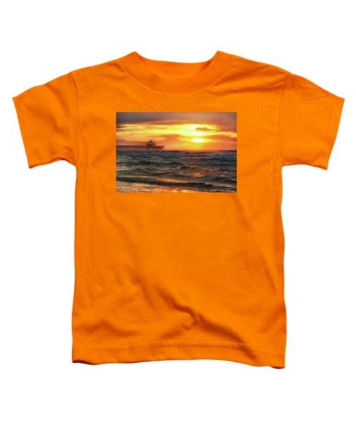 Folly Beach Pier Sunrise Toddler T-Shirt