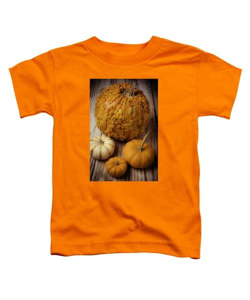 Four Pumpkins Toddler T-Shirt