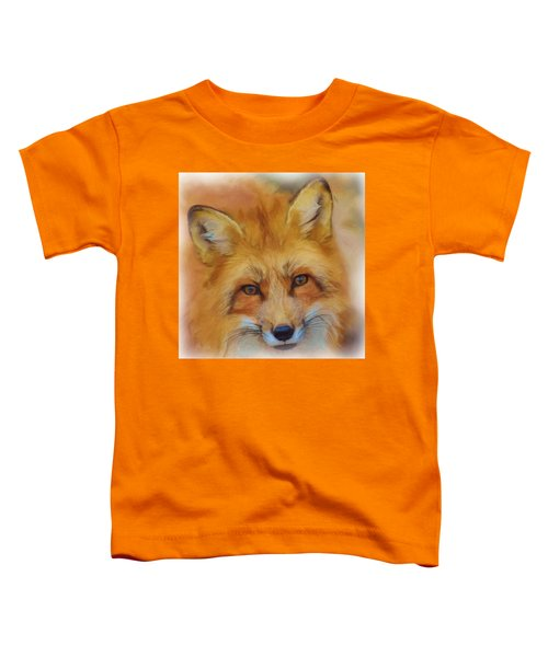 Fox Face Taken From Watercolour Painting Toddler T-Shirt