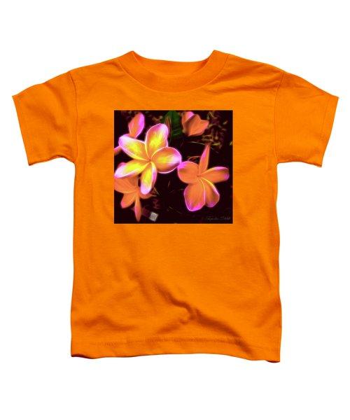 Frangipanis On The Glow Toddler T-Shirt
