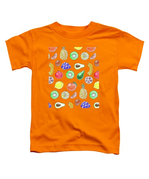 Fruit Pattern  Toddler T-Shirt by Katerina Kirilova