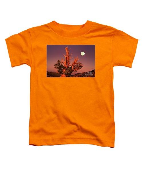Full Moon Behind Ancient Bristlecone Pine White Mountains California Toddler T-Shirt