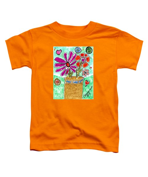 Funky Flowers Toddler T-Shirt