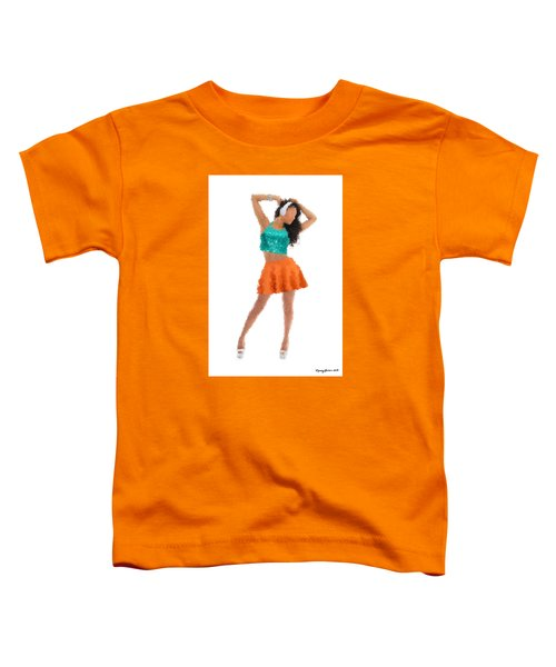 Toddler T-Shirt featuring the digital art Gaby by Nancy Levan
