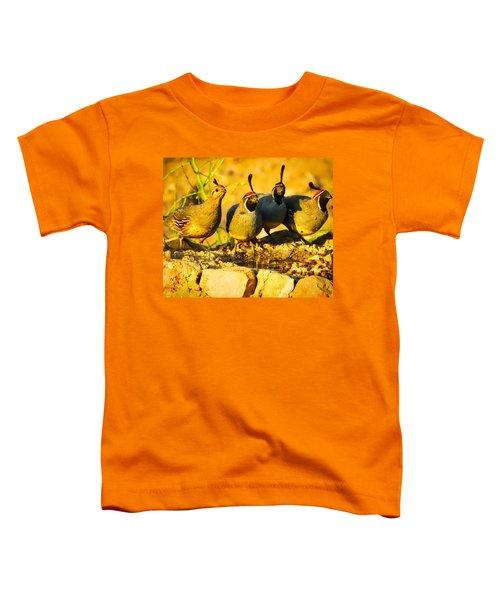 Gambel's Quail Foursome Toddler T-Shirt