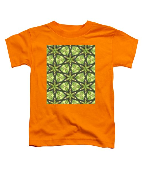 Geo Stars In Greens Toddler T-Shirt