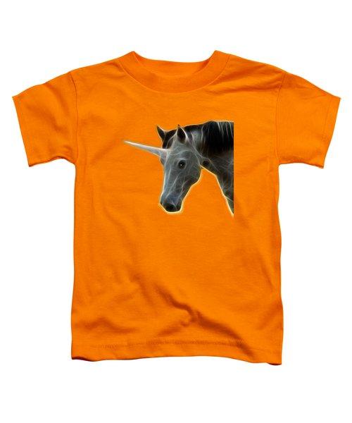 Glowing Unicorn Toddler T-Shirt by Shane Bechler