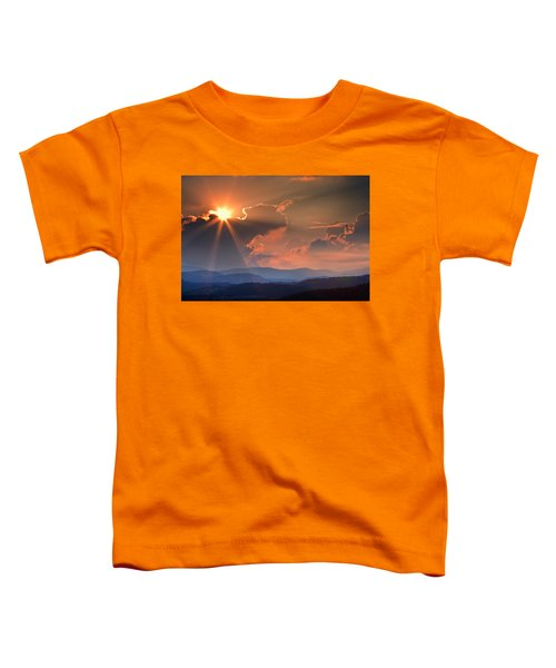 God Rays Over N C  Mountains Toddler T-Shirt