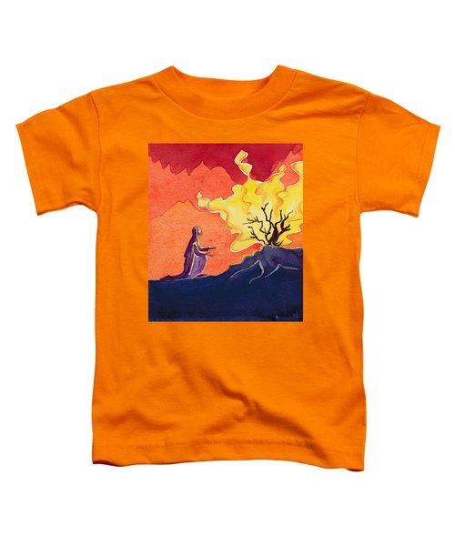 God Speaks To Moses From The Burning Bush Toddler T-Shirt