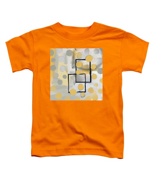 Gold And Grey Abstract Toddler T-Shirt