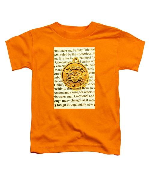 Golden Crab Cancer Toddler T-Shirt