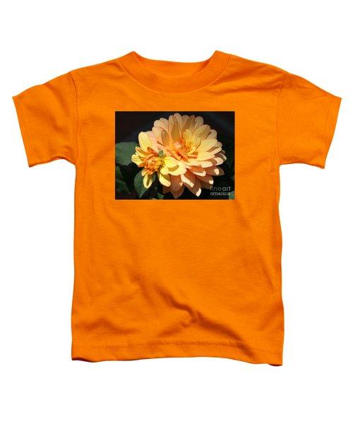 Golden Dahlia With Bud Toddler T-Shirt
