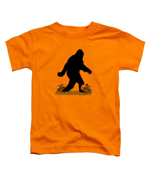 Gone Thanksgiving Squatchin' Toddler T-Shirt by Gravityx9   Designs
