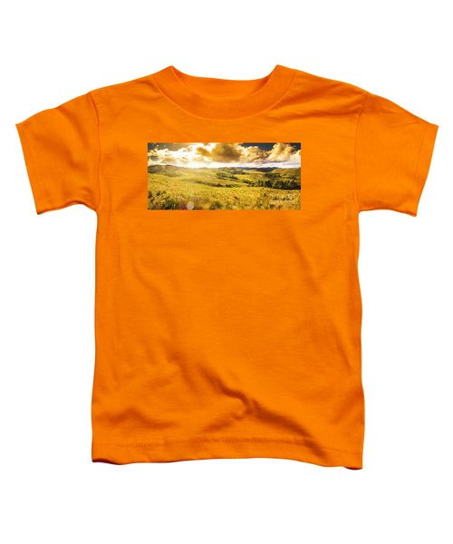 Gorgeous Golden Sunset Field  Toddler T-Shirt