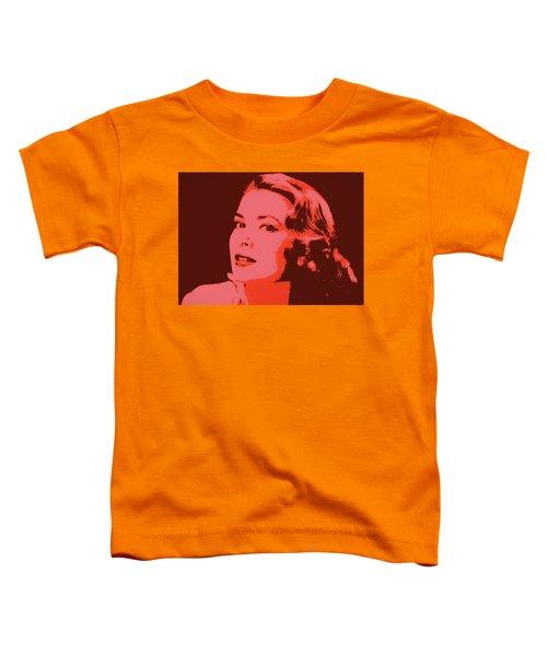 Grace Kelly Pop Art Toddler T-Shirt by Dan Sproul