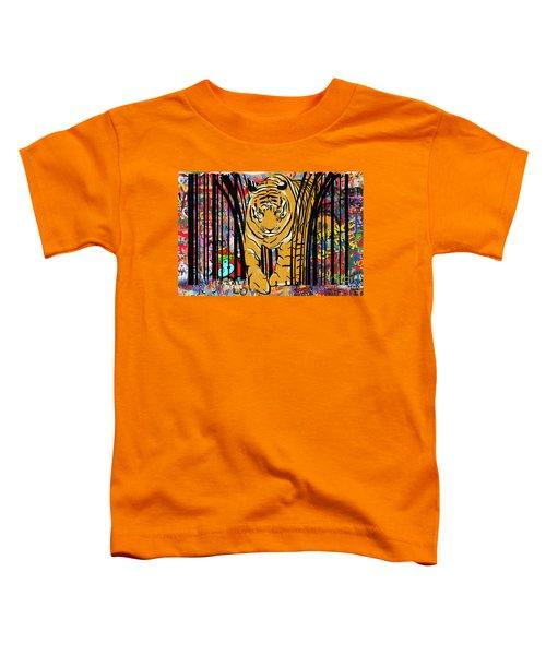 Graffiti Tiger Toddler T-Shirt
