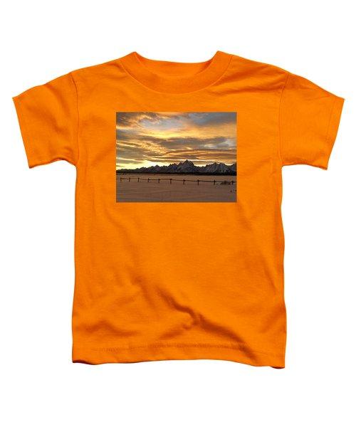 Grand Tetons In January Glory Toddler T-Shirt
