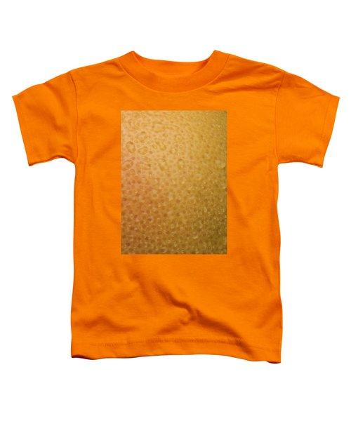 Grapefruit Skin Toddler T-Shirt by Steve Gadomski