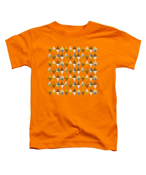 Graphic Pattern Funky Triangles - Golden Toddler T-Shirt
