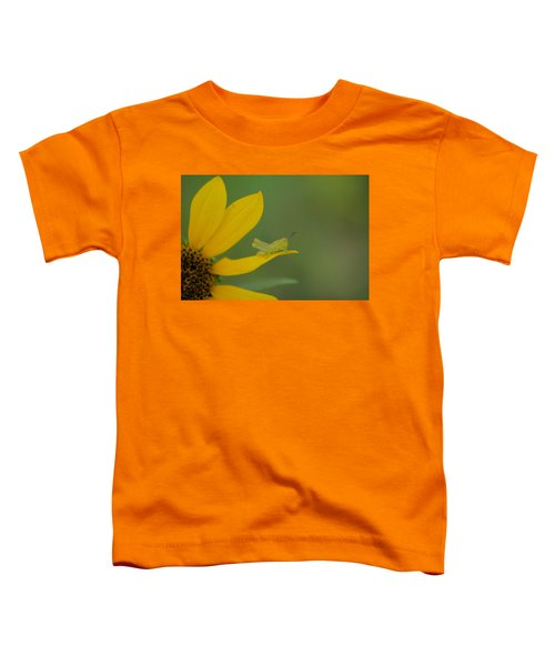 Grasshopper On A Flower Petal Toddler T-Shirt