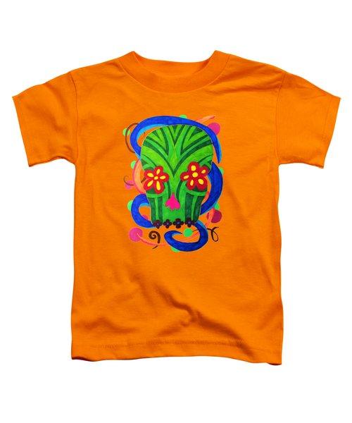 Grassy Skull Transparent Toddler T-Shirt