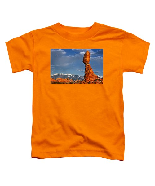 Gravity Defying Balanced Rock, Arches National Park, Utah Toddler T-Shirt