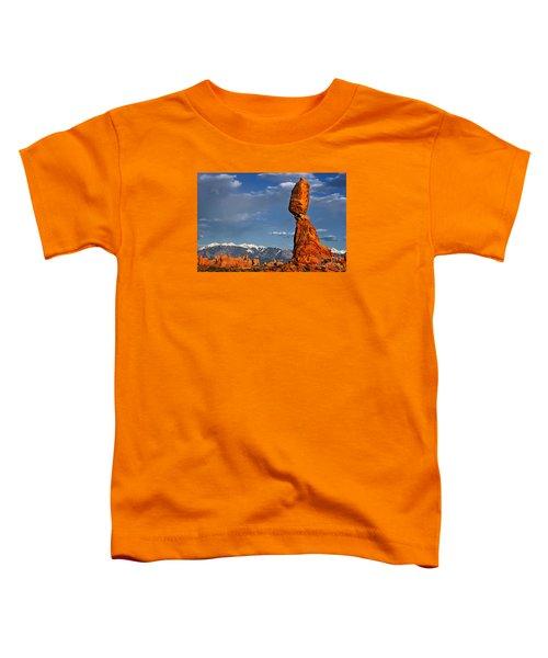 Gravity Defying Balanced Rock, Arches National Park, Utah Toddler T-Shirt