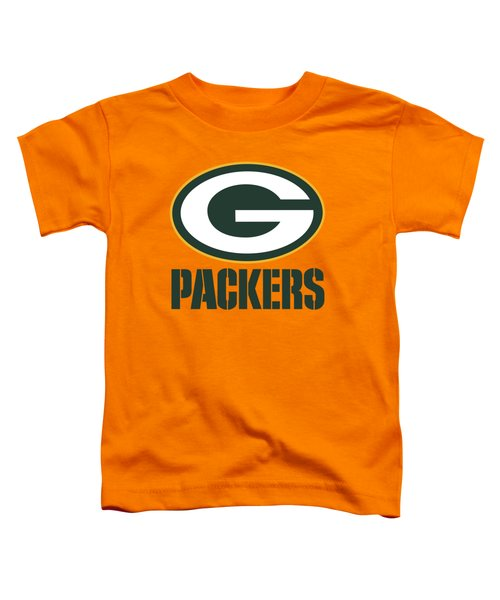 Green Bay Packers On An Abraded Steel Texture Toddler T-Shirt