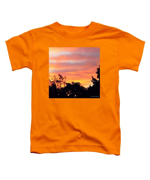 #halloween #morning #sky Is On #fire Toddler T-Shirt