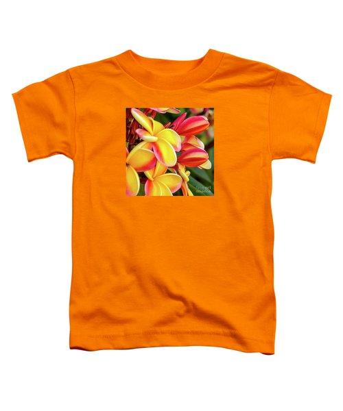 Hawaii Plumeria Flowers In Bloom Toddler T-Shirt
