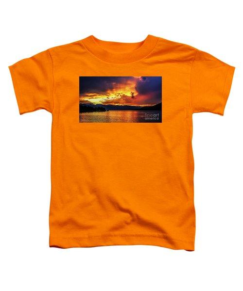 Hebgen Lake Sunset Toddler T-Shirt