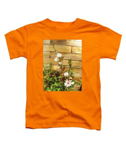 Hollyhock Alcea Rosea Roseneibisch Toddler T-Shirt