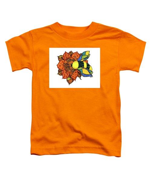 Honeybee On A Flower Toddler T-Shirt