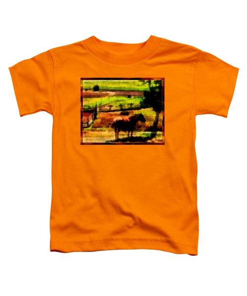 Horse At Pasture Toddler T-Shirt