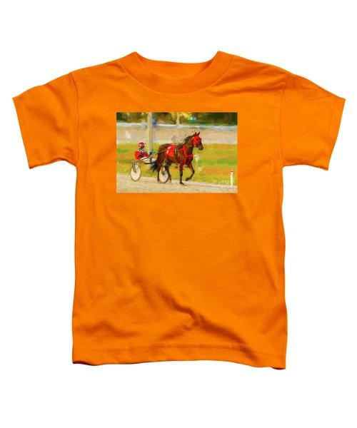 Horse, Harness And Jockey Toddler T-Shirt
