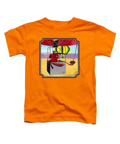 Hot Air Ballooning - Abstract - Pop Art -  Square Format Toddler T-Shirt