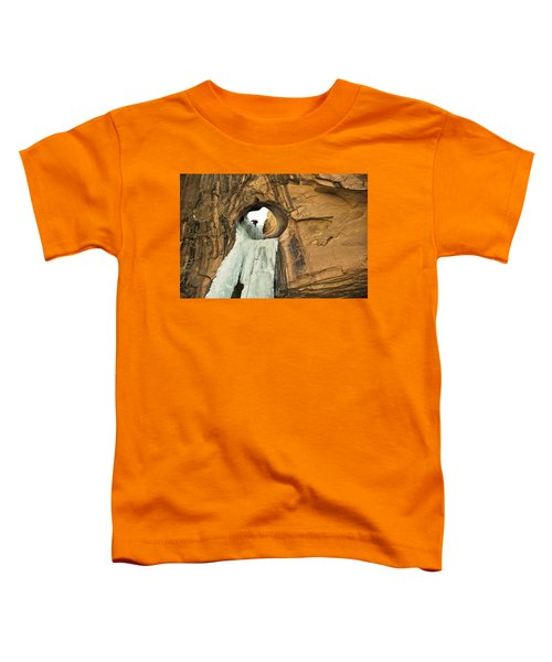 Toddler T-Shirt featuring the photograph Ice Climber In Arch by Whit Richardson